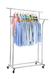 Portable And Expandable Garment Rack In Black Chrome 18 Months Enchanting 32 Top Garment Clothing Racks Top Storage Ideas