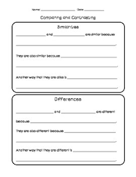 sentence frames for writing teaching resources teachers pay teachers  similarities and differences sentence frames and organizer
