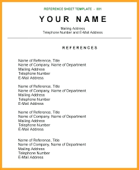 Reference Pages For Resume Reference Sheet Template Word Free Resume Reference Sheet
