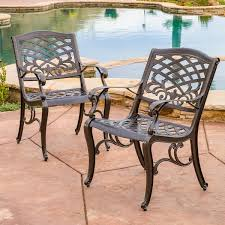 Sarasota Cast Aluminum Bronze Outdoor Chair Set of 2 by Christopher Knight Home 7d2997ad 4f75 4f59 a665 d0d368e 600