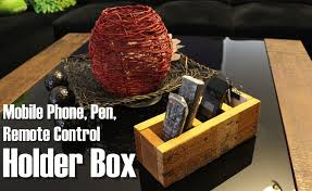 picture of diy mobile phone pen remote control holder box