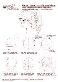 Hair Style Anime learn manga how to draw the female head side by naschi on deviantart 6224 by wearticles.com