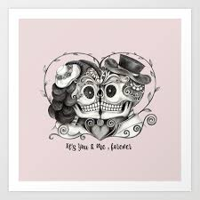 sugar skull couple it s you and me