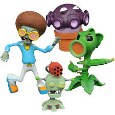 diamond select toys plants vs zombies garden warfare 2 select peashooter vs disco zombie action figure com