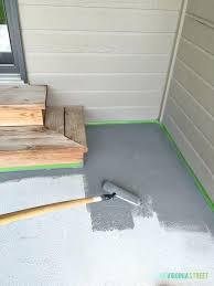 tiling over painted concrete painted concrete patio makeover tile over painted concrete block wall