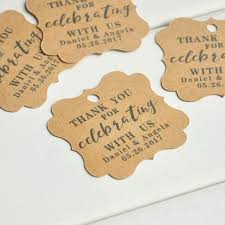 thank you tags for wedding favors personalized wedding favors wedding favors kraft tag personalised