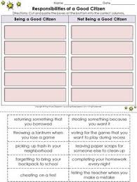best citizenship activities ideas citizenship  good citizen responsibilities cut and paste activity citizenship