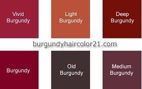 Image Result For Shades Of Burgundy Color Chart Burgundy