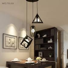 Đèn chùm thả 3 đèn bàn ăn phòng khách đèn thả hình học hiện đại