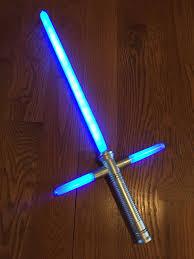 blue lightsaber new like in star wars cross guard light up led sword with sound 1 of 8free blue lightsaber