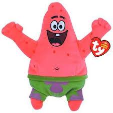 Amazon.co.jp: Patrick Spongebob Sponge Bob Ty Beanie Baby Plush ...