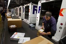 Fedex Sort Observation These Santas Wear Purple Houston Chronicle
