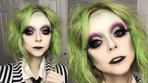 glam beetlejuice makeup tutorial