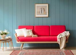 red furniture ideas. red couch blue wall i like the treatment furniture ideas s