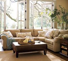 remarkable pottery barn style living. Remarkable Pottery Barn Style Living. Amazing My Sectional And Leather Ottoman Pearce Piece With Wedge Living A