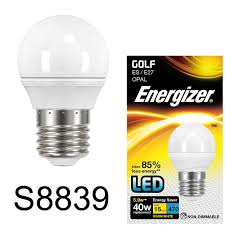 Es E27 Energy Saving Light Bulbs Energizer Led 5 9w 40w Edison Screw Es E27 Golf Warm White Energy Saving Light Bulb
