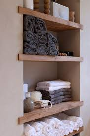 storage wall shelves built in shelving for the bathroom but maybe some open and some