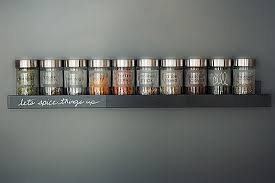 A Sleek, Wall-Mounted Spice Rack