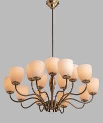 15 arm brass chandelier