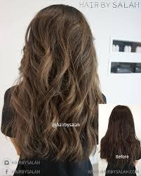 Light Hazelnut Brown Hair Color Mocha Brown Base Colour With Hazelnut Soft Balayage By Salah