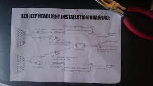 jeep jk headlight wiring jeep image wiring diagram help wiring led headlights halos jeep wrangler forum on jeep jk headlight wiring