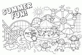 Small Picture Free Printable Summer Coloring Pages Coloring Coloring Pages