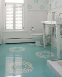 linoleum bathroom flooring. Instead Of Tile Or Linoleum, Paint Floors With A High Gloss. | 27 Clever Linoleum Bathroom Flooring H