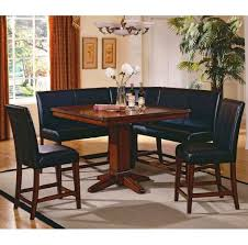 Kitchen Tables Furniture Kitchen Glamorous Corner Kitchen Table And Black Leather Chairs