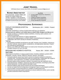 Crna Resume Unique 4848 Crna School Resume Example Symbiosisartscienceorg