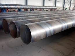 Guniting External Cement Lining Spiral Welded Saw Pipes
