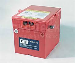 Gill Ge 51e Aircraft Battery With Acid