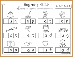 Young kids learning their alphabet letters need lots of practice discerning the differences in letters. Kindergarten Phonics Worksheets Letter Blending Interventions Beginning Sounds For 1024 796 Worksheet Samsfriedchickenanddonuts