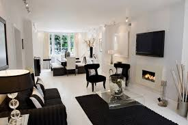 cool black and white living room decoration ideas 5