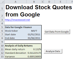 Google Stock Quote Enchanting Google Finance Stock Quotes In Excel