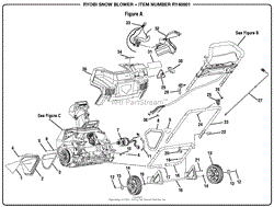 homelite ry40801 snow blower parts diagram for wiring diagram figure a