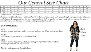 Plus Size Size Chart Size Chart Wrap Plus Size Clothing