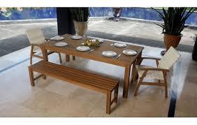 teak 3 piece outdoor bench seat dining