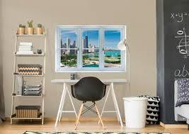 chicago skyline instant window fathead wall decal