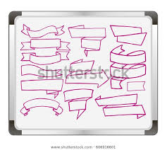 Banner Set On Flip Chart Background Miscellaneous Objects
