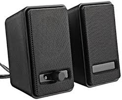 speakers in amazon. amazonbasics a100 usb-powered computer speakers - black in amazon