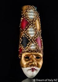 Decorative Masquerade Masks Venetian Pierrot Macrame Gold Mask Italian style decoration 37
