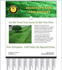 Lawn Care Brochure Free Lawn Care Brochure Templates Lawn Care Business Flyer Template