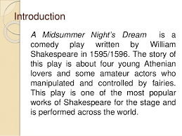 themes and plot analysis in a midsummer night s dream by william shak 3 introduction a midsummer night s dream