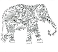 Intricate Coloring Pages Elephant Detailed Coloring Pages For Teens