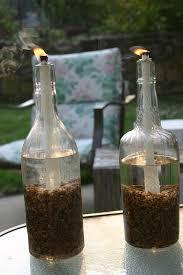 wine bottle tiki torch craft