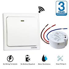 no wiring lighting. Acegoo Wireless Lights Switch Kit, No Wiring Battery, Quick Create Or Relocate On Lighting