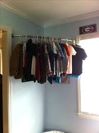 how to hang a closet rod gypsy ideas to hang clothes without a closet in wonderful