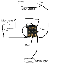 nav light wiring diagram how should i wire running lights on a 1734 Ow4 Wiring Diagram carling rocker switches nav light wiring diagram wiring for navigation lights including a masthead light with 1734-ow4 wiring diagram