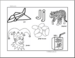 letter puzzle j bw guide p
