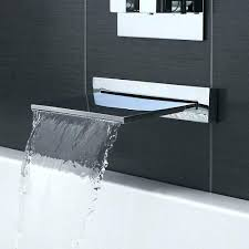 bathtub wall faucet mount waterfall mounted faucets bathroom moen
